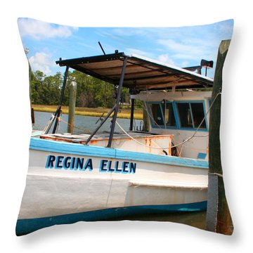 Sea Worthy Throw Pillow by Barry Jones