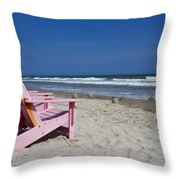 Seas The Chair  Throw Pillow by Betsy Knapp