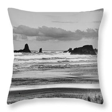 Seaside By The Ocean Throw Pillow by James Heckt