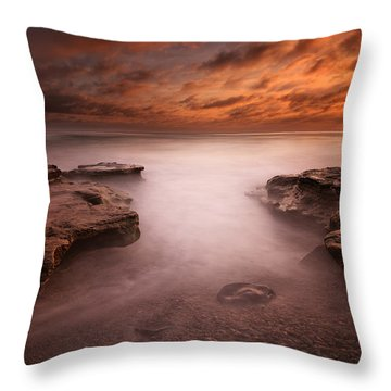 Seaside Reef Sunset 3 Throw Pillow by Larry Marshall