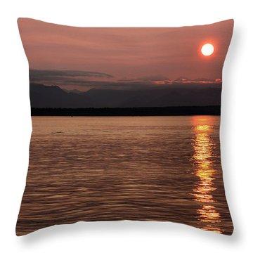 Seattle Sunset Throw Pillow by Kristin Elmquist