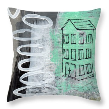Secret Cottage Throw Pillow by Linda Woods