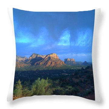 Sedona Clouds Throw Pillow by Nina Prommer