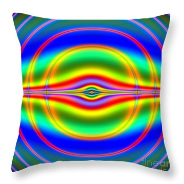 Seeing In Fluorescent Neon Fractal 135 Throw Pillow by Rose Santuci-Sofranko