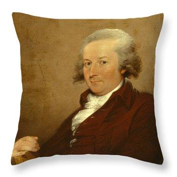 Self-portrait Throw Pillow by John Trumbull