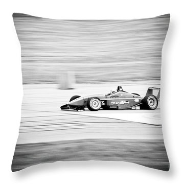 Sepia Racing Throw Pillow by Darcy Michaelchuk