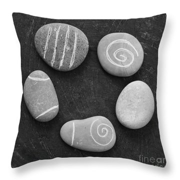 Serenity Stones Throw Pillow by Linda Woods