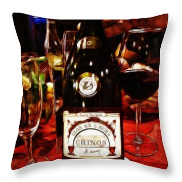 Serving Time Throw Pillow by Joan  Minchak