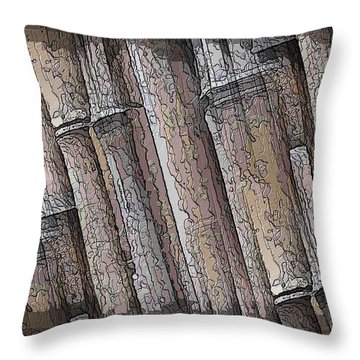 Shades Of Bamboo Throw Pillow by Tim Allen