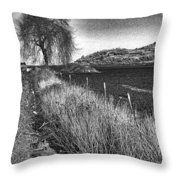 Shaggy Tree Throw Pillow by Bonnie Bruno