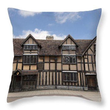 Shakepeare's House Throw Pillow by Jane Rix