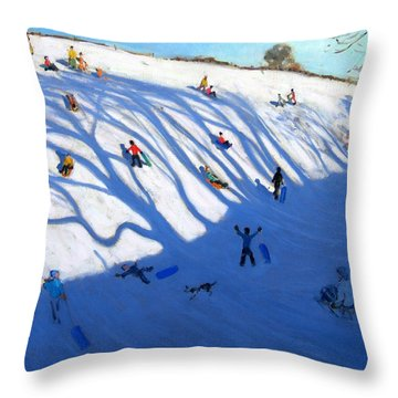 Shandows On A Hill Monyash Throw Pillow by Andrew Macara
