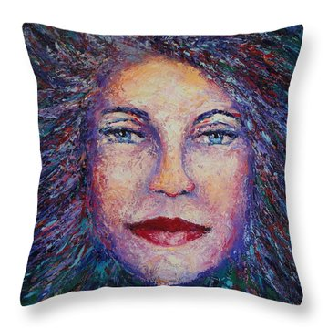 She's Come Undone Throw Pillow by Shannon Grissom