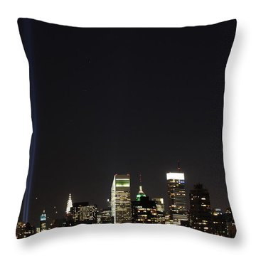 Shining Up  Throw Pillow by Catie Canetti