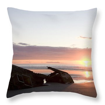 Shipwreck, Boats, Danger, Rotting Throw Pillow by Taylor S. Kennedy