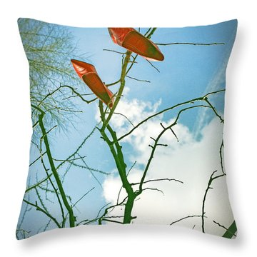 Shoes In The Sky Throw Pillow by Joana Kruse