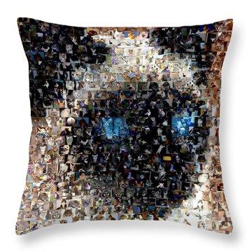 Siamese Cat Mosaic Throw Pillow by Paul Van Scott
