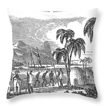 Sierra Leone: Slave Trade Throw Pillow by Granger