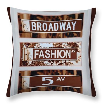 Signs Of New York Throw Pillow by Rob Hans