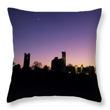 Silhouette Of St. Patricks Church And A Throw Pillow by The Irish Image Collection