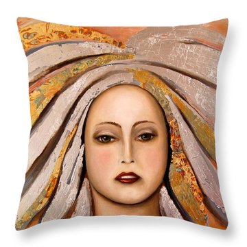 Silver Throw Pillow by Leah Saulnier The Painting Maniac