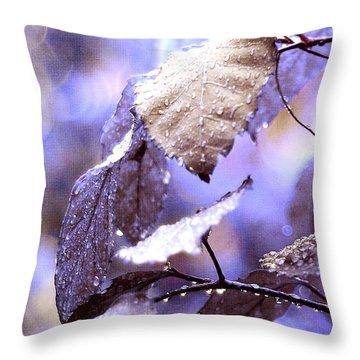 Silver Rain. The Garden Of Dreams Throw Pillow by Jenny Rainbow