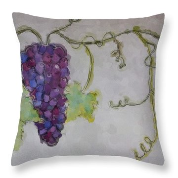 Simply Grape Throw Pillow by Heidi Smith