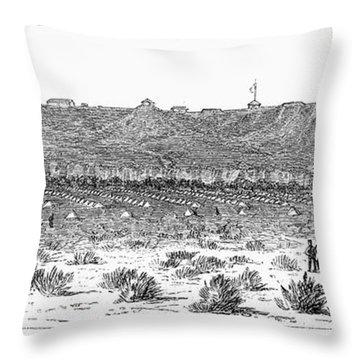 Sioux War: Fort Fetterman Throw Pillow by Granger