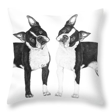 Sisters From Boston Throw Pillow by Murphy Elliott