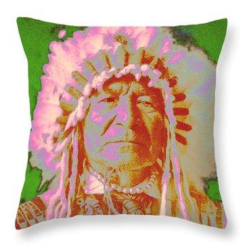 Sitting Bear Throw Pillow by Gary Grayson