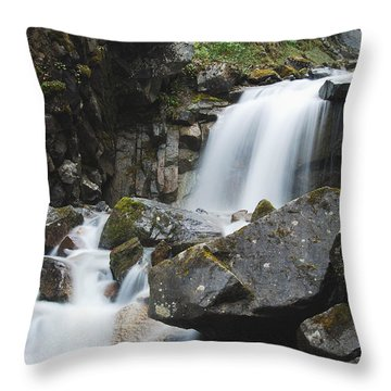 Skagway Waterfall 8619 Throw Pillow by Michael Peychich
