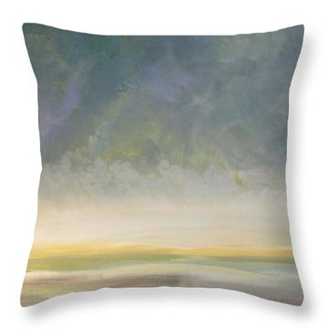 Skaket - Waiting On The Storm Throw Pillow by Jacqui Hawk