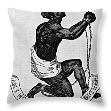 Slavery: Abolition, 1835 Throw Pillow by Granger