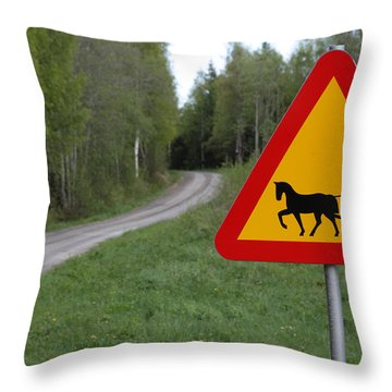 Slow Times Throw Pillow by Ulrich Kunst And Bettina Scheidulin