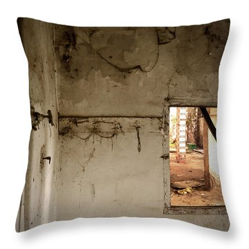Small Window In An Abandoned Kitchen Throw Pillow by RicardMN Photography
