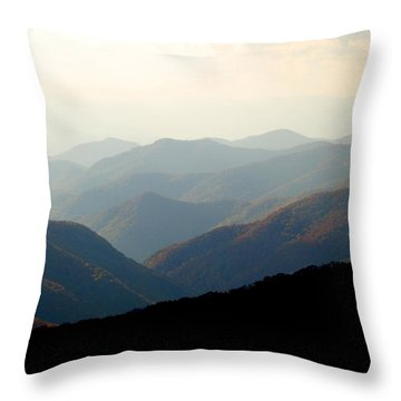 Smoky Mountain Overlook Great Smoky Mountains Throw Pillow by Rich Franco