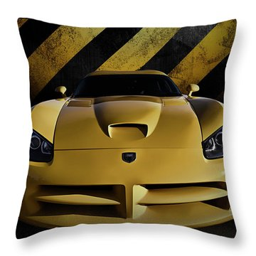 Snake Crossing Throw Pillow by Douglas Pittman