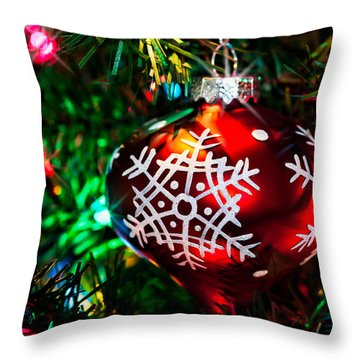 Snowflake Ornament Throw Pillow by Christopher Holmes