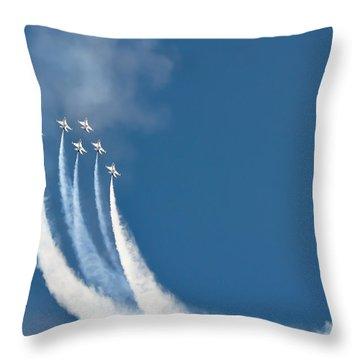 Soaring Throw Pillow by Athena Lin