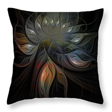 Soft Metals Throw Pillow by Amanda Moore