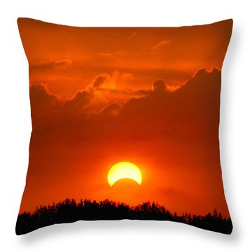 Solar Eclipse Throw Pillow by Bill Pevlor