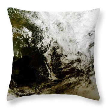 Solar Eclipse Over Southeast Asia Throw Pillow by Stocktrek Images