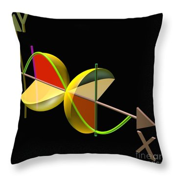 Solid Of Revolution 5 Throw Pillow by Russell Kightley