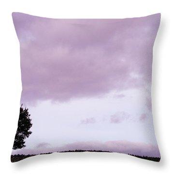 Solitude - Denbigh Moors Throw Pillow by Georgia Fowler