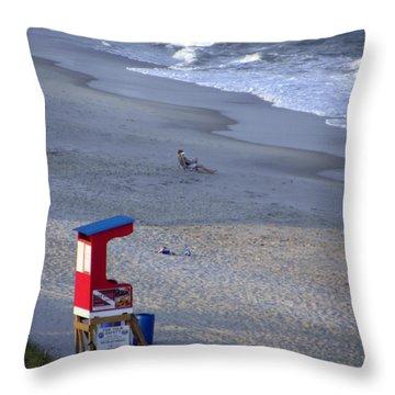 Solitude Throw Pillow by Sandi OReilly