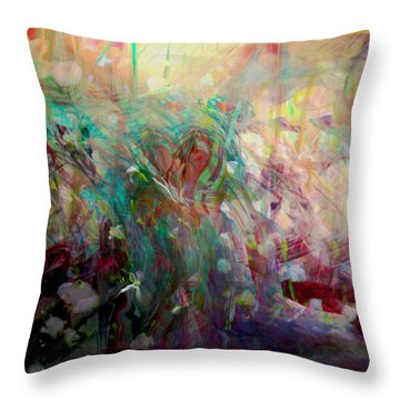Something Beautiful Throw Pillow by Linda Sannuti