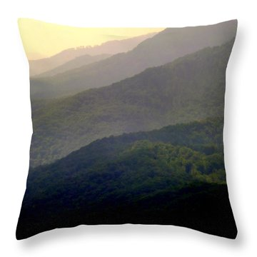 Song Of The Hills Throw Pillow by Karen Wiles