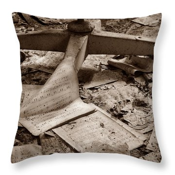 Songs Of Silence Throw Pillow by Luke Moore