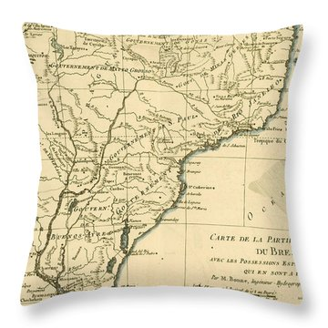 Southern Brazil Throw Pillow by Guillaume Raynal