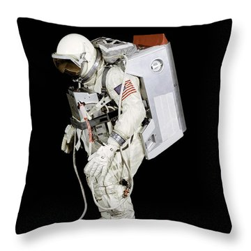 Spacesuit Used By Gemini Viii Throw Pillow by Stocktrek Images